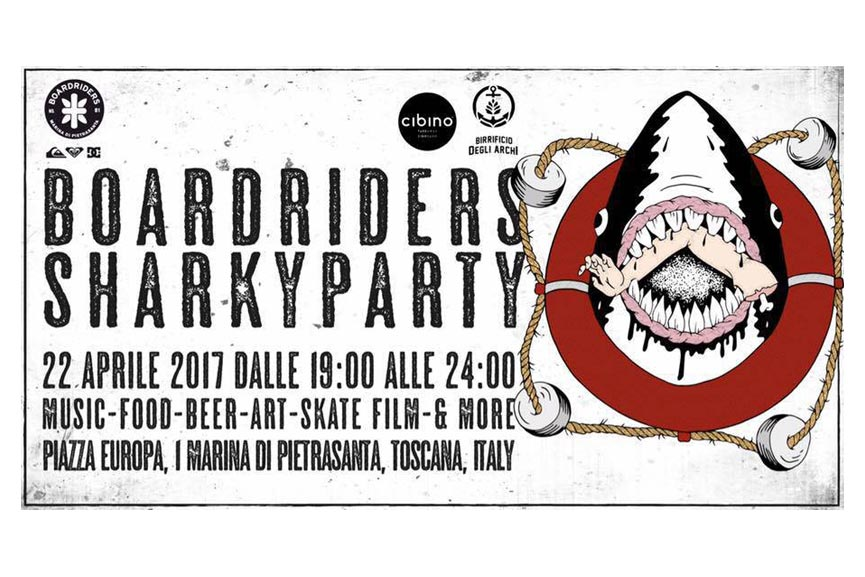 Tutto pronto per il Boardriders Sharky Party