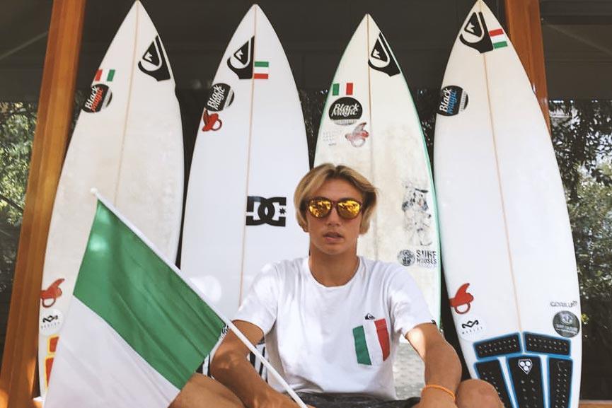 Mattia Migliorini pronto per l'ISA Junior World Championship