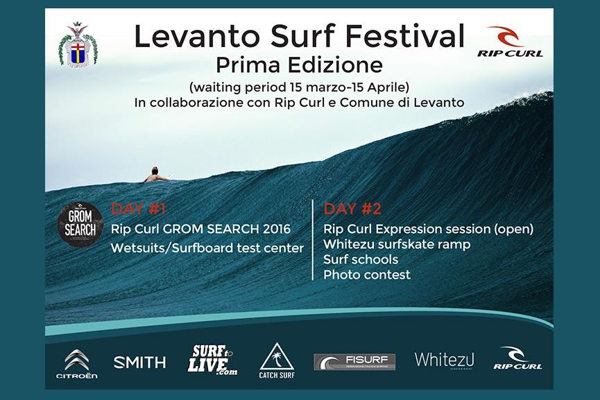 RIP CURL GROMSEARCH 2016 E 1° LEVANTO SURF FESTIVAL